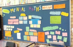 Our Mental Maths Wall